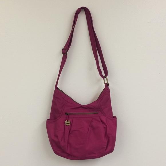 Travelon Handbags - Travelon Fuschia Large Hobo Purse